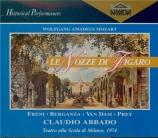 MOZART - Abbado - Le nozze di Figaro (Les noces de Figaro), opéra bouffe Live Scala 22 - 04 - 1974