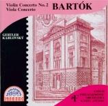 BARTOK - Ancerl - Concerto pour violon n°2 Sz.112 BB.117