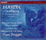 HAYDN - Brüggen - Die Schöpfung (La création), oratorio pour solistes, c