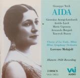 VERDI - Molajoli - Aida, opéra en quatre actes