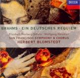 BRAHMS - Blomstedt - Ein deutsches Requiem (Un Requiem allemand), pour s