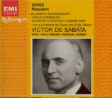 VERDI - De Sabata - Messa da requiem, pour quatre voix solo, choeur, et o