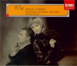 WOLF - Von Otter - Spanisches Liederbuch, cycle de mélodies pour voix et