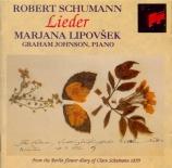 SCHUMANN - Lipovsek - Liederkreis (Eichendorff), cycle de douze mélodies