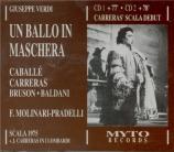 VERDI - Molinari-Pradel - Un ballo in maschera, opéra en trois actes Live Scala di Milano 13 - 2 - 1975