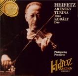 ARENSKY - Heifetz - Trio avec piano n°1 op.32