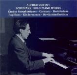 SCHUMANN - Cortot - Études symphoniques, pour piano op.13