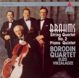 BRAHMS - Borodin Quartet - Quintette avec piano en fa mineur op.34