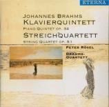BRAHMS - Rösel - Quintette avec piano en fa mineur op.34