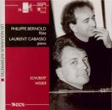 SCHUBERT - Bernold - Introduction et sept variations en mi mineur sur 'T