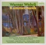 WEHRLI - Euler Quartett - Quatuor à cordes op.8