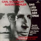 MAHLER - Schuricht - Das Lied von der Erde (Le chant de la terre), pour Live recording, Amsterdam 5 October 1939