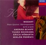 MOZART - Schiff - Quatuor pour piano et cordes en sol mineur K.478