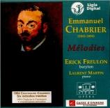 CHABRIER - Freulon - Credo d'amour, pour voix et piano