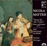 MATTEIS - Arcadian Academ - Sonates pour violon