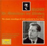 Maîtres chanteurs Acte III - Raretés wagnériennes
