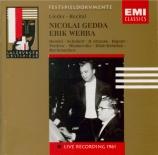 Lieder-Recital Live Salzburg 17/8/1961