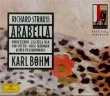 STRAUSS - Böhm - Arabella, opéra op.79