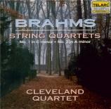 BRAHMS - Cleveland Quart - Quatuor à cordes n°1 en do mineur op.51 n°1