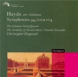 HAYDN - Hogwood - Symphonie n°94 en do majeur Hob.I:94