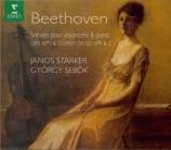 BEETHOVEN - Sebök - Sonate pour violoncelle et piano n°1 op.5 n°1