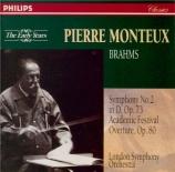 BRAHMS - Monteux - Symphonie n°2 pour orchestre en ré majeur op.73