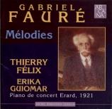 Mélodies  piano de concert Erard, 1921