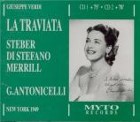 VERDI - Antonicelli - La traviata, opéra en trois actes Live, Met 22 - 01 - 1949