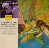 MENDELSSOHN-BARTHOLDY - Rilling - Ein Sommernachtstraum (Le songe d'une