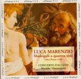 MARENZIO - Alessandrini - Madrigali a quatro voci (Libro primo 1585)