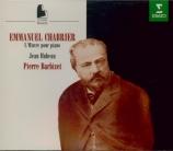 CHABRIER - Barbizet - Oeuvre intégrale pour piano