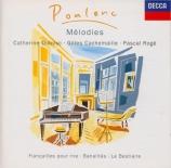POULENC - Dubosc - Banalités, cinq mélodies pour voix et piano sur des p