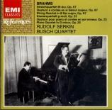 BRAHMS - Serkin - Quatuor à cordes n°3 en si bémol majeur op.67