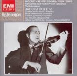 MOZART - Heifetz - Concerto pour violon et orchestre n°5 en la majeur K