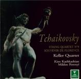 TCHAIKOVSKY - Keller Quartet - Quatuor à cordes n°3 en mi bémol mineur o