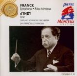FRANCK - Monteux - Symphonie pour orchestre enrémineur FWV.48