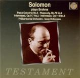 BRAHMS - Solomon - Concerto pour piano et orchestre n°2 en si bémol maje