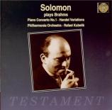 BRAHMS - Solomon - Concerto pour piano et orchestre n°1 en ré mineur op