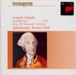 HAYDN - Weil - Symphonie n°45 en si majeur Hob.I:45 'Abschieds-Symphonie