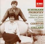 SCHUMANN - Courtois - Sonate pour violon et piano n°1 en la mineur op.10