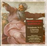 MENDELSSOHN-BARTHOLDY - Spering - Symphonie n°2, pour chœur et orchestre