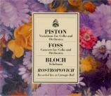 FOSS - Rostropovich - Concerto pour violoncelle