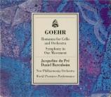 GOEHR - Du Pré - Romanza pour violoncelle et orchestre op.24