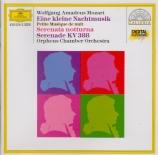 MOZART - Orpheus Chamber - Sérénade n°6, pour deux petits orchestres en