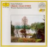 SCHUBERT - Wiener Kammeren - Octuor en fa majeur pour cordes et vents op