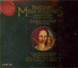 BEETHOVEN - Davis - Missa solemnis op.123
