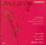 STRAVINSKY - Järvi - Petrouchka, ballet burlesque pour orchestre en 4 ta