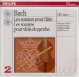 BACH - Larrieu - Sonate pour flûte (ou flûte à bec) et clavier en la maj