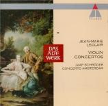 LECLAIR - Schröder - Concerto pour violon en sol mineur op.10 n°6