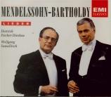 MENDELSSOHN-BARTHOLDY - Fischer-Dieskau - Lieder